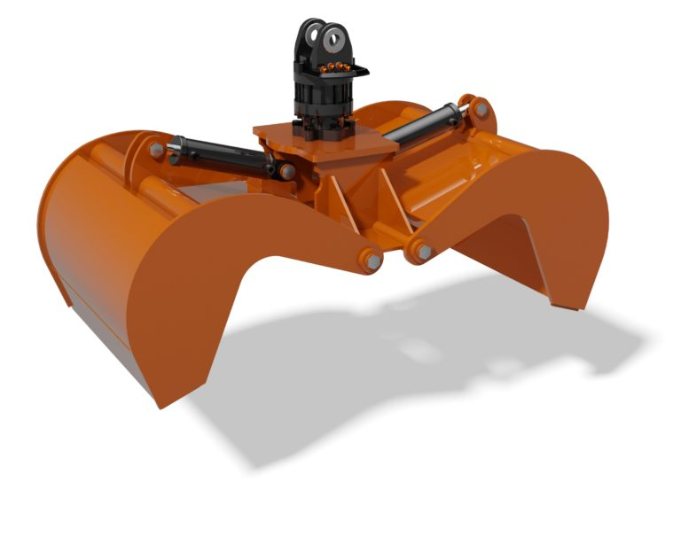 3D CAD model of municipal grapple